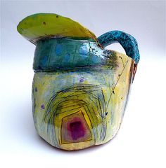 Big jug with speckle handle © Linda Styles Ceramics 2013