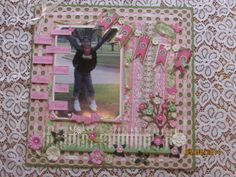 12x12 Layout using Diemond DIes - Picket Fence, Mini Must Haves, Bare Tree, Grass Border, Fancy Flowers, Nature Flourish and Graphic 45 Botanical Tea Set papers.