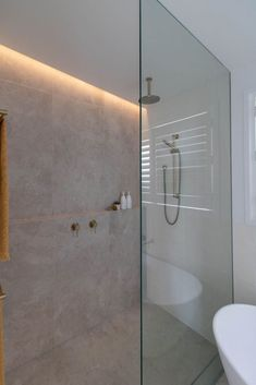 Why do an ordinary bathroom renovation when you can step things up and do a luxe bathroom reno? ACT Renovations share their latest Hamptons bathroom Bathroom Plans, Downstairs Bathroom, Bathroom Renos, Bathroom Inspo, Bathroom Renovations, Bathroom Inspiration, Modern Bathroom, Small Bathroom, Master Bathroom