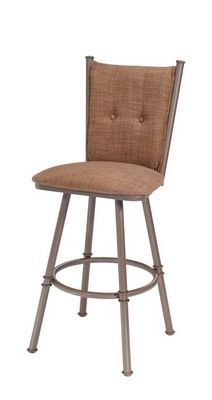 """""""Arthur I Spectator Bar Stool: 34"""""""" Metal Bar Stool by Trica"""""""