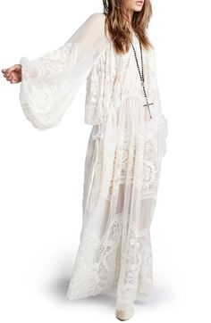 Free People 'Bohemian Winds' Silk Maxi Dress available at #Nordstrom