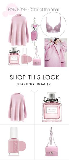 """""""Rose Quartz"""" by asingular on Polyvore featuring Yves Saint Laurent, Christian Dior, Essie and Chanel"""