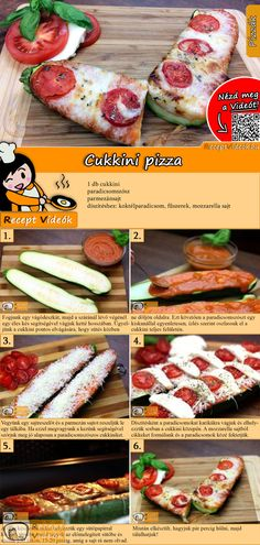 Zucchini pizza recipe with video - recipe ideas / vegetable dishes- Are you looking for recipes for vegetable dishes? Then try zucchini pizza! The zucchini pizza recipe video is easy to find using the QR code :] pizza dough # Zucchini Pizza Recipes, Zucchini Pizzas, Vegetarian Recepies, Vegetarian Lunch, New Recipes, Cooking Recipes, Healthy Recipes, Vegetable Dishes, Vegetable Recipes