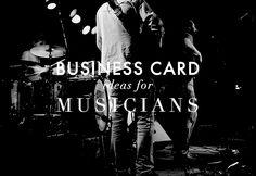Business Card Ideas for Musicians http://www.hazelwonderlandblog.com/business-card-ideas-for-musicians/