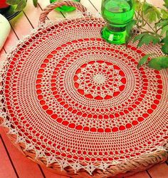 Home Decor Crochet Patterns Part 139 - Beautiful Crochet Patterns and Knitting Patterns Crochet Circles, Crochet Doily Patterns, Crochet Diagram, Crochet Art, Thread Crochet, Crochet Crafts, Crochet Doilies, Easy Crochet, Knitting Patterns