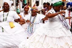 Dia das Baianas (Day of the Baianas), Salvador, Bahia, Brazil.