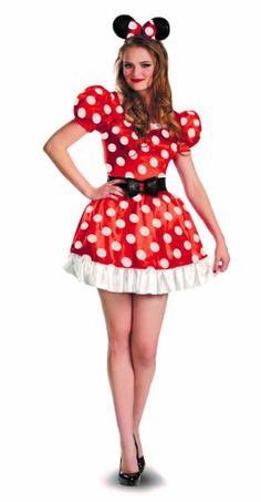 Disguise Costumes Red Minnie Mouse Classic Costume, Red/Black/White,  #halloweencostumesboutique
