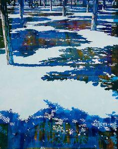 © Paul Davies ~ Luxembourg Gardens Looking Down ~ 2011 acrylic on linen at Tim Olsen Gallery Sydney Australia
