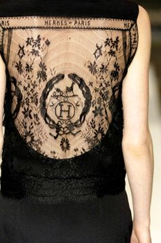 hermes, black lace