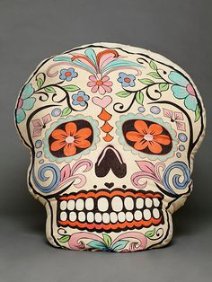 Free People Sugar Skull Dog Pillow, 128.00 i want this , for me & my cats!!