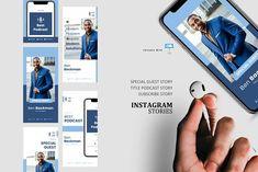 Podcast ig stories and posts keynote by rivatxfz Instagram Design, Instagram Story, Company Presentation, Editing Pictures, Keynote Template, School Design, Design Bundles, Social Media, Templates