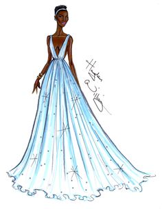 Hayden Williams Fashion Illustrations | Congratulations Lupita!! By Hayden Williams. Dress: Prada. Oscars 2014