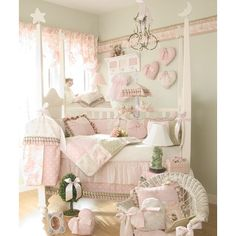 Glenna Jean-Isabella 5 Piece Crib Bedding Set with Diaper Stacker