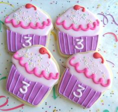 Candy Land/Sweet Shop Party: Pinkalicious Cupcake Cookie Favors