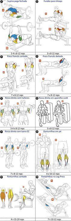 programa treino tríceps bíceps e panturrilhas Men& Super Hero Shirts, Women& Super Hero Shirts, Leggings, Gadgets Muscle Fitness, Fitness Diet, Mens Fitness, Fitness Motivation, Health Fitness, Fitness Memes, Fitness Style, 7 Workout, Biceps Workout