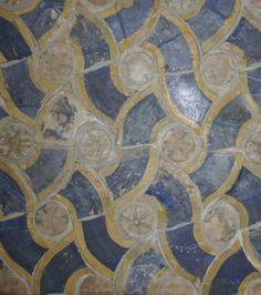 Scherventableau Renaissance meandertegels uit paleis