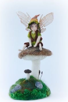 Arlyn OOAK Faerie doll and needle felted by Lavender & Lark