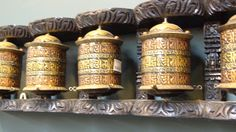Tibetan Buddhist Prayer Wheels send prayers wishing happiness for all living beings.  Handcrafted in Nepal.