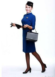 【China】 Xiamen Airlines cabin crew / 厦門航空 客室乗務員 【中国】 Style, Fashion, Swag, Moda, Fashion Styles, Fashion Illustrations, Outfits