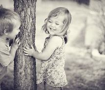 """i love that the tree  is providing all the fun in this photo! Reminds me of """"The Giving Tree."""""""