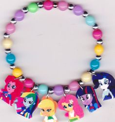 My Little Pony Equestria Girls Bracelet by Oseweverything on Etsy, $7.00