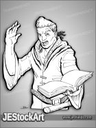 JEStockArt - Fantasy - African Mage with Tome - LNB