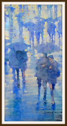 Paris in the Rain. Oil on canvas by David Hinchliffe