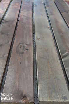With this all natural wood stain method, you may have to go back and do a second coat on your lumber but it's totally worth it!