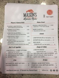 Mason's Famous Lobster Rolls, Rehoboth Beach: See 42 unbiased reviews of Mason's Famous Lobster Rolls, rated 4.5 of 5 on TripAdvisor and ranked #30 of 281 restaurants in Rehoboth Beach.