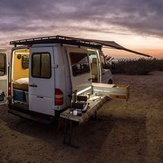 "RigRacks on Instagram: ""Get out and camp, life is always better there.  This sprinter conversion done for the awesome Simpson family.  The van has a unique design…"""