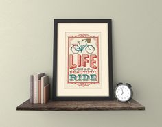Sometimes youve just gotta grab life by the handlebars and cycle with all your might! This lovely pattern would be ideal for both the novice or hardened pro of cyclists and would be a great heartfelt gift. Its fairly dinky so would be great for someone new to cross stitch (or someone just less keen on monster sized ones.)  The design measures: 69 stitches wide x 121 stitches high  Finished stitched area: 14 ct aida - 5x 8½ (12cm x 21.6cm) 16 ct aida - 4½x 7½ (11cm x 19cm)  This is a PDF file…