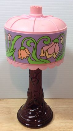 Vintage Avon Tiffany Lamp Decanter Bottle Purple Roses Roses Cologne Empty | eBay