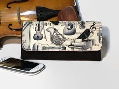 Necessary Clutch Wallet, Ladies Purse, Musical Instruments, Musicians Gift Presents For Women, Mothers Day Presents, Mother's Day, Emmaline Bags, Handmade Purses, Handmade Gifts, Ladies Purse, Wallet Pattern, Music Gifts