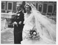 Nancy Mitford's wedding to Peter Rodd, 4 December They divorced in Mitford Sisters, Nancy Mitford, Wedding Looks, Wedding Pics, Frederick The Great, Old Hollywood Glamour, Here Comes The Bride, One Shoulder Wedding Dress, Marie