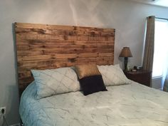 King size pallet headboard we made in just a few hours and $50