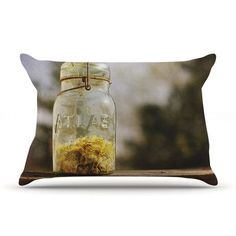 KESS InHouse Jar of Sunshine by Angie Turner Featherweight Pillow Sham, Country