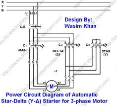 Three Phase Motor Connection STAR/DELTA Without Timer Power ...
