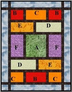 Simple Fat Quarter Quilt | is a graphically appealing quilt, simple to make and uses fat quarters ...