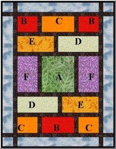 """A Modern Fat Quarter Quilt ...55"""" x 75"""" using 6 FQs"""