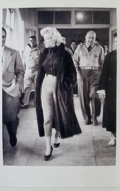 rare candid... Marilyn in Japan 14 February 1954, the day she visited Osaka Army Hospital.