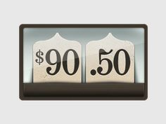 Dribbble - Old Timey Cash Register Number Display by Sarah Mick