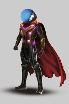 "Mysterio - Spider-man Far From Home: ""Thor + Iron Man"" Suit Marvel Villains, Marvel Comics Art, Marvel Heroes, Spiderman Marvel, Superhero Characters, Comic Book Characters, Comic Character, Amazing Spiderman, Marvel Universe"