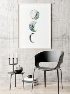 Moon phases in watercolor Art print - Poster, Framed print, Canvas Print: Art quality. Framed Prints, Canvas Prints, Art Prints, Watercolor Moon, Shop Art, Wall Decor, Wall Art, Moon Phases, Insta Art