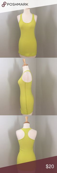 Lululemon neon green cool racerback Good condition.  Super soft material! lululemon athletica Tops Tank Tops