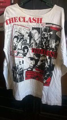 THE CLASH mega rare vintage t shirt. Punk, The Clash, Rock n Roll