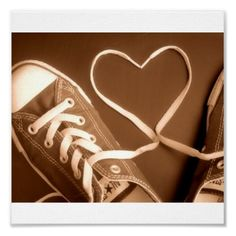 Would be even cuter if one of the shoes was one partner's and the other the other's :) <3