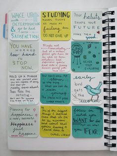examgradebooster: mlstudies: some more little quotes i made to put into my journal in the weeks to come! Love these notes! Great quotes that look great! If you're looking for a way to spruce up your journal, spending half an hour doing this is a great way to make it more visually appealing.