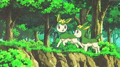 """These Deerling look friendly.""  ""They are, Deerling are usually very friendly, shy, and genital Pokemon.""  ""You forgot cute."""