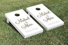 Custom Full Name Wedding Cornhole Set