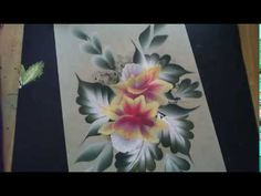 One Stroke Painting - Paint Along Floral Composition - YouTube